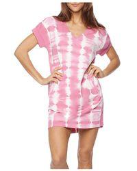 Billy T Water Stripe Lounge Dress - Pink