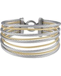 Alor - Gray & Yellow Stacked Cable Bangle - Lyst