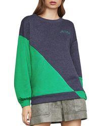 BCBGMAXAZRIA - Color-block French Terry Sweatshirt - Lyst