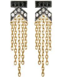 Karl Lagerfeld - K Fringe Crystal Earrings - Lyst