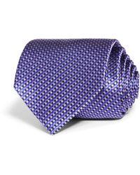 Bloomingdale's Micro Chevron Silk Classic Tie - Purple