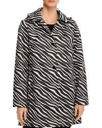 Kate Spade Zebra Print Raincoat - Black