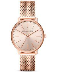 Michael Kors - Pyper Monochrome Mesh Bracelet Watch - Lyst