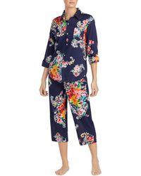 Ralph Lauren - Lauren Seaside Classic Capri Pajama Set - Lyst