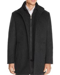 Cardinal Of Canada Car Coat With Removable Bib - Black