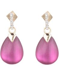 Alexis Bittar Modern Georgian Crystal Teardrop Earrings - Multicolour