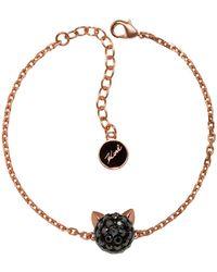 Karl Lagerfeld Crystal Choupette Bracelet - Metallic