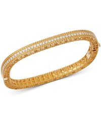 Roberto Coin 18k Yellow Gold Princess Diamond Bangle Bracelet - Metallic