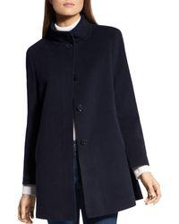 Basler Wool - Blend A - Line Coat - Blue