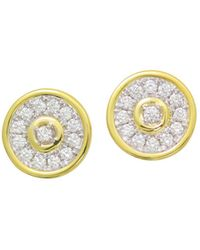 Frederic Sage - 18k White & Yellow Gold Firenze Diamond Disc Stud Earrings - Lyst