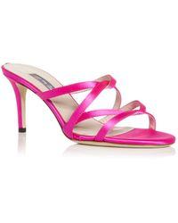 SJP by Sarah Jessica Parker Melia High Heel Slide Sandals - Pink