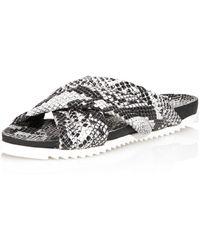 Charles David Women's Lye Crossband Slide Sandals - White
