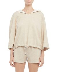 Theory Drawstring Hooded Sweatshirt - Natural