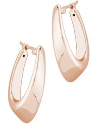 Bloomingdale's Medium Hoop Earrings In 14k Rose Gold - Pink