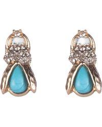Alexis Bittar Scarab Stud Earrings - Multicolour