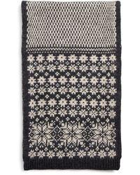 Bloomingdale's Wool Fair - Isle Scarf - Grey