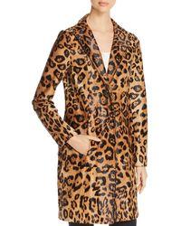 ad5bcef198dc Elie Tahari - Angelina Leopard Print Calf Hair Coat - Lyst