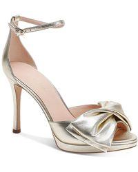 Kate Spade Bridal Bow High - Heel Sandals - Metallic