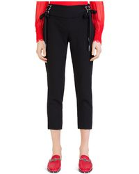 The Kooples - Daisy Crepe Cropped Lace-up Trousers - Lyst