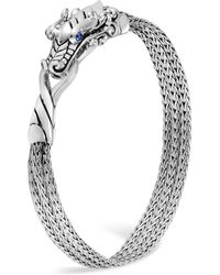 John Hardy - Sterling Silver Legends Naga Multi-chain Bracelet With Sapphire Eyes - Lyst