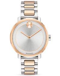Movado - Bold Two Tone Watch - Lyst