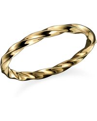 Roberto Coin - 18k Yellow Gold Wave Bangle - Lyst