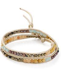 Chan Luu - Multi-stone Wrap Bracelet In Sterling Silver - Lyst