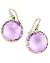 Ippolita - 18k Yellow Gold Lollipop® Amethyst Drop Earrings - Lyst