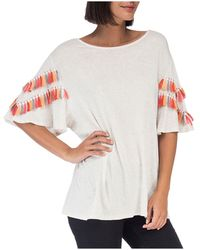 B Collection By Bobeau | Jean Embellished-sleeve Knit Top | Lyst
