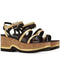 Ferragamo Strappy Platform Sandals - Black
