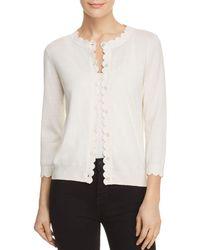 Kate Spade Scalloped Cardigan Sweater - Pink