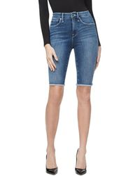 GOOD AMERICAN The Bermuda Denim Shorts In Blue179