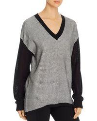 Lyssé Helen Mixed - Knit Sweater - Black