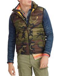 Polo Ralph Lauren - Camo Packable Down Vest - Lyst