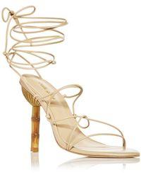 Cult Gaia Soleil Lace Up High Heel Sandals - Multicolour