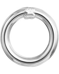 Tous Sterling Silver Small Hold Ring Pendant - Metallic