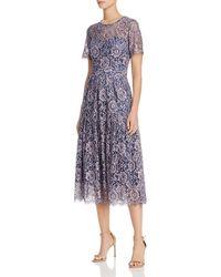 Eliza J - Short Sleeve Fit & Flare Lace Dress - Lyst