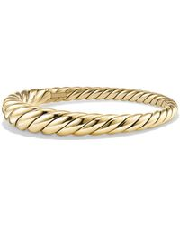David Yurman 9.5mm Pure Form Large Cable Bracelet In 18k Gold - Metallic