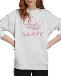 adidas Trefoil Logo Sweatshirt - White