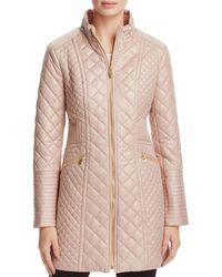 Via Spiga - Diamond-quilted Zip Coat - Lyst