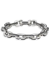 David Yurman - Sterling Silver Diamond Bracelet - Lyst