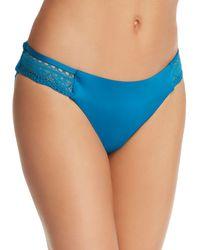 Laundry by Shelli Segal Crochet Hipster Bikini Bottom - Blue