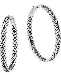 John Hardy - Sterling Silver Modern Chain Hoop Earrings - Lyst