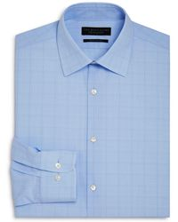 Bloomingdale's - Blue Glen Plaid Regular Fit Dress Shirt - Lyst