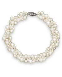 Bloomingdale's Cultured Freshwater Pearl Woven Bracelet In 14k White Gold