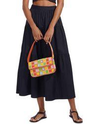 STAUD Sea Maxi Skirt - Black
