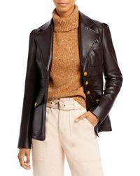 A.L.C. Amelia Faux Leather Jacket - Multicolour