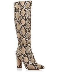Aqua Women's Maria Block Heel Tall Boots - Natural