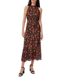 Sam Edelman Paisley Print High Neck Maxi Dress - Multicolor