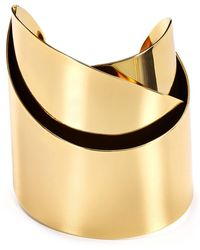 Alexis Bittar - Miss Havisham Metal Geometric Ribbon Cuff - Lyst